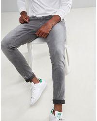 Lindbergh - Slim Fit Jeans In Grey - Lyst