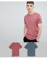 Farah - Oakmont 2 Pack Lounge T-shirts - Lyst