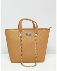 Marc B. - Shopper With Grab Handle And Chain Shoulder Strap - Lyst