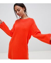 39d029952a3b ASOS Asos Bodycon Dress with Off Shoulder in Red - Lyst