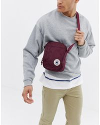 Converse - Chuck Taylor Patch Crossbody Bag In Burgundy - Lyst