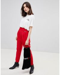 Stradivarius - D Ring Tapered Trousers - Lyst