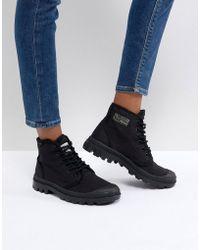 Palladium - Pampa Hi Originale Tc Black Canvas Flat Ankle Boots - Lyst