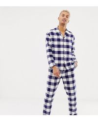 ASOS - His & Hers Mix & Match Woven Straight Pyjama Bottoms In Gingham - Lyst