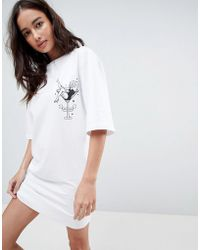 Uncivilised - Cocktail Print T-shirt Dress - Lyst