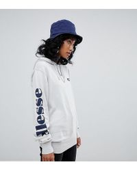 Ellesse - Relaxed Hoodie With Arm Logo In Fine Knit - Lyst