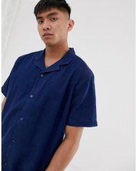 983ba16eb60 Levi s - Cubano Short Sleeve Denim Shirt Revere Collar In Flat Finish - Lyst