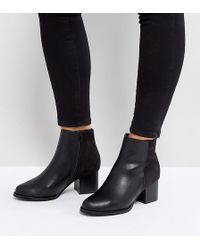 Truffle Collection - Wide Fit Mid Heel Boot - Lyst