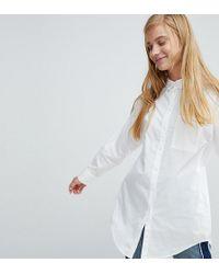 Monki - Split Side Shirt - Lyst