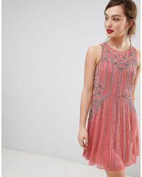 Frock and Frill - Frock & Frill Heavily Embellished Swing Dress - Lyst