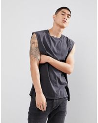Cheap Monday - Sound Tank In Washed Black - Lyst