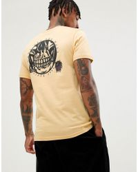 289b7fc326 Vans Split T-shirt With Back Print In White Exclusive At Asos in ...