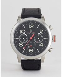 Tommy Hilfiger - Jake Stainless Steel Chronograph Watch With Black Dial - Lyst