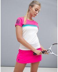 adidas - Tennis Short Sleeve Color Block Tee - Lyst
