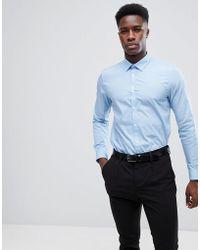 New Look - Poplin Shirt In Light Blue - Lyst