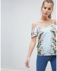 Oasis - Fitzwilliam Floral Print Cold Shoulder Cami - Lyst