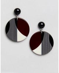 Whistles - Geometric Circle Resin Earring - Lyst