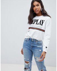 Replay - - Stripe Sweatshirt - Lyst
