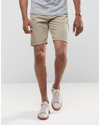 ASOS - Cord Shorts In Stone - Lyst
