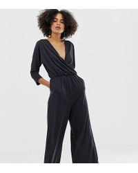 4d5c118984 Ba sh Willow Jumpsuit In Washed Denim in Black - Lyst
