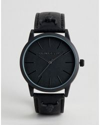 ASOS - Watch With Rams Head Stud Detail In Black - Lyst