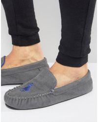 Ralph Lauren - Dezi Moccasin Slippers - Grey - Lyst