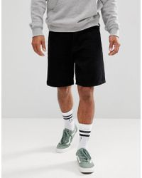 ASOS | Denim Shorts In Skater Fit Black | Lyst