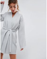 ASOS - Waffle Hotel Robe In 100% Cotton - Lyst