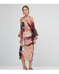 ASOS | Abstract Kimono Midi Dress | Lyst