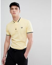 Fred Perry - Reissues Single Tipped Polo In Lemon - Lyst