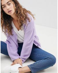 ASOS - Cardigan In Ripple Stitch With Buttons - Lyst