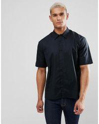 ADPT - Short Sleeve Oversized Drop Shoulder Shirt - Lyst