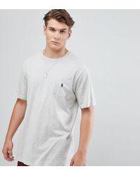 Polo Ralph Lauren - Big & Tall T-shirt Player Logo In Grey Marl - Lyst