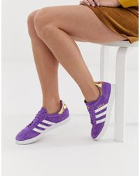 adidas Originals - Tfl Gazelle Trainers In Purple And White - Lyst