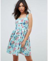 Hell Bunny - 50 s Floral Skater Dress - Lyst 570c9de7f