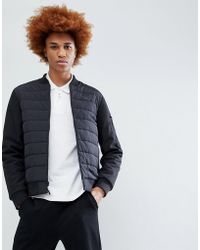 Timberland - Insulated Body Nylon Bomber Jacket In Black - Lyst