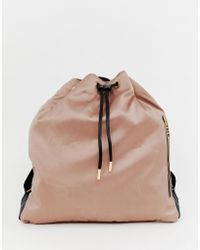 Juicy Couture - Oversized Drawstring Backpack - Lyst