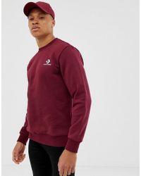 Converse Rotes Sweatshirt mit Logo, 10008816-A09