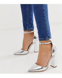 b5a876dc1ea4 Lyst - ASOS Peppermint Embellished Pointed High Heels in Metallic