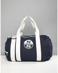 North Sails - Large Duffle Bag With Logo In Navy - Lyst
