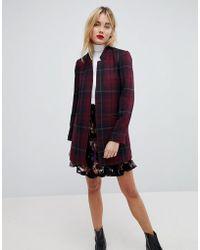 Vero Moda - Check Print Blazer - Lyst