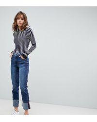 Esprit - Gerade geschnittene Jeans mit Kontraststreifen - Lyst