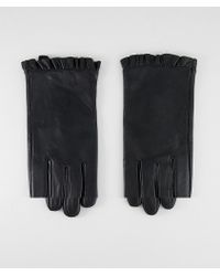 ASOS - Leather Ruffle Gloves - Lyst