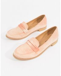 Vero Moda - Suede Loafers - Lyst