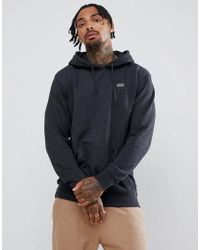 Vans - Small Logo Pullover Hoodie In Black Vn0a3hq2bhh1 - Lyst