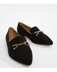 ASOS - Lance Wide Fit Pointed Loafer Ballet Flats - Lyst