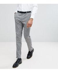 Heart & Dagger - Tall Skinny Suit Trousers In Herringbone Tweed - Lyst