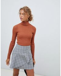 New Look - Roll Neck Sweater In Rust - Lyst