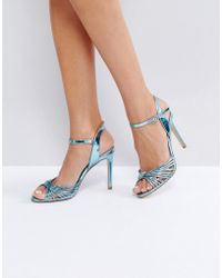 4c62f0491eb Faith Dolly Heeled Sandals in Natural - Lyst