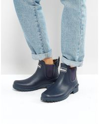 Barbour - Chelsea Welly Boot With Logo Detail - Lyst